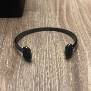 Edie Gunmetal Cuff Bracelet in Black Dusty